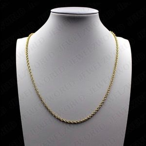 10k Solid Rope Necklace